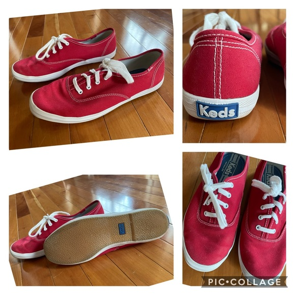 Like new KEDS in red! Size 7!